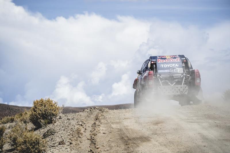 Giniel de Villiers (ZAF) of Toyota Gazoo Racing SA races during stage 4 of Rally Dakar 2017 from San Salvador de Jujuy, Argentina to Tupiza, Bolivia on January 5, 2017.