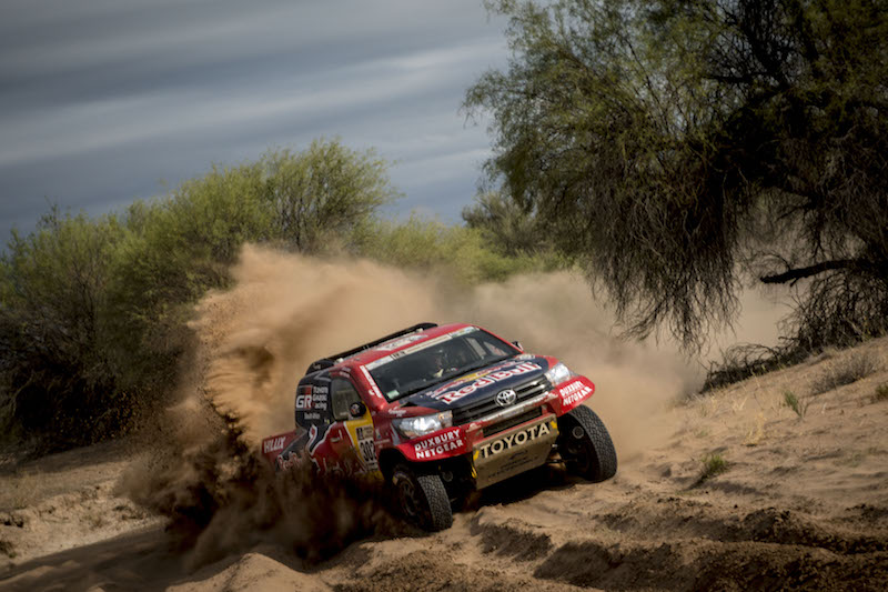 Giniel De Villiers (ZAF) of Toyota Gazoo Racing SA races during stage 11 of Rally Dakar 2017 from San Juan to Rio Cuarto, Argentina on January 13, 2017
