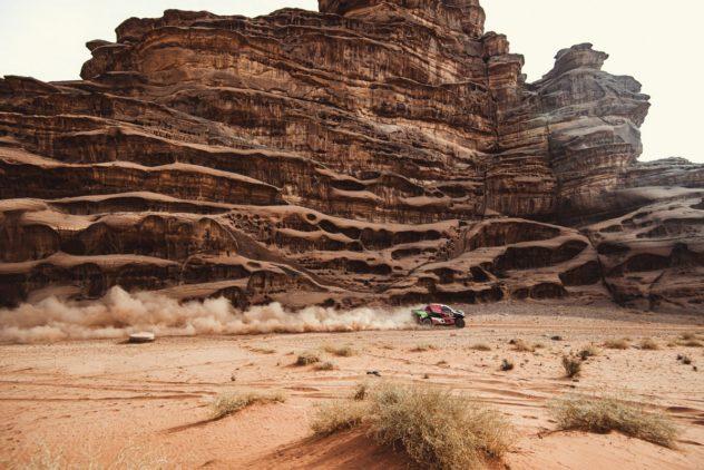 """Vornweg, aber nicht oben auf: Al-Rajhi/von Zitzewitz meistern """"Dakar""""-Königsetappe"""